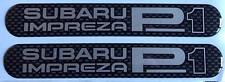 Prodrive SUBARU IMPREZA P1-Lato Bump STRISCIA CARBONIO Design a CUPOLA Gel distintivi x 2