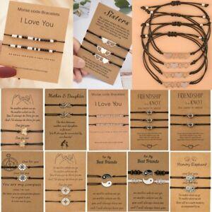 2/3Pcs Stainless Steel Love Heart Bracelet Best Friend Friendship Bangle Jewelry