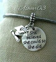 Graduation Hat Diploma Charm Pendant For European Bracelet Necklace Silver