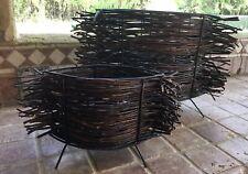 Set/2 • Iron Willow Twig Large/Medium Candle Holders/Lanterns • Home Decor