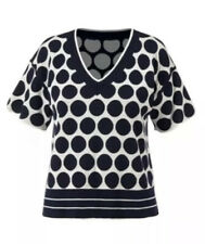 Cabi New NWT Volley Pullover Size XS #5641 Navy Blue White Reversible Was $94