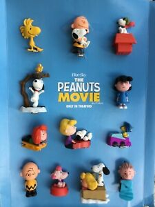 2015 McDonald's Blue Sky Peanuts Movie Happy Meal Store Display 12 Figures Toys