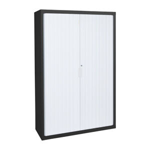 Tambour Cupboard - 900mm Wide 1850mm High with 3 Shelves