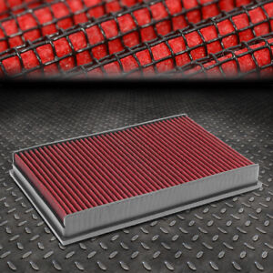 FOR VW CC/EOS/PASSAT/AUDI TT RED REUSABLE/DURABLE ENGINE AIR FILTER INTAKE PANEL
