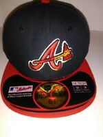 New Era MLB Atlanta Braves 59FIFTY Navy/Red Fitted Hat Size 6-3/8. 51.1 CM NEW