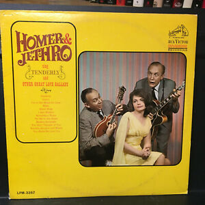 Homer & Jethro TENDERLY 1965' RCA VICTOR Comedy Country  Lp Vinyl Disc Record