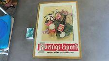 Ancienne plaque publicitaire tôle de bière KOENINGS-EXPORT Brassée en France