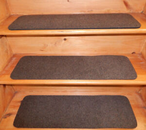 7 Step = 9'' x 30''  Out/Indoor  Stair Treads Non-Slip Staircase 100% Rubber .