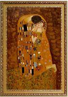 Ölbild der Kuss Ölgemälde Gustav Klimt HANDGEMALT Gemälde F:60x90cm