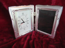 Vecceli Italy Silver Photo Frame/Clock-