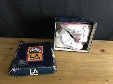 1993 Vintage La Gear Infant Girl Sneakers sz 5 La Lights White/Pink 1Still Works