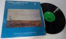 HOMENAJE A ALBERTO WILLIAMS Lia Cimaglia Espinosa Piano LP Vinyl OEA-014 stereo