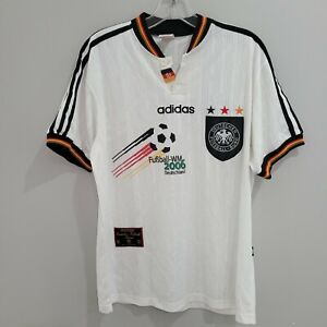 Rare VTG adidas World Cup 2006 Germany Soccer Futbol Jersey Mens M White