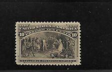 US Scott #237 mint never hinged 10c black brn 1893 Columbian fresh color og f/vf