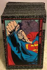 DOOMSDAY DEATH OF SUPERMAN COMPLETE 100 CARD TRADING CARD SET SKYBOX