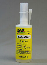SLO-ZAP 33 THICK CA GAP FILLER train figures scenery models plastic glue ZAP33