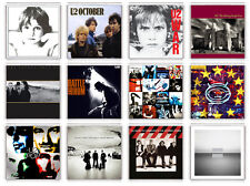 U2 SET OF 12 FRIDGE MAGNET LP COVERS IMANES NEVERA