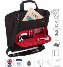 "15.6"" portátil bolsa bolsa de hombro señoras iPad caso de negocios negro is0305"