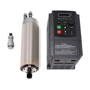 800W ER11 Spindle Motor Water-cooling 65*195mm&1.5KW VFD Inverter CNC Router Kit