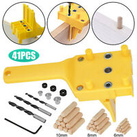 41X Handheld Woodworking Doweling Jig Drill Guide Wood Dowel Drilling Hole Tool