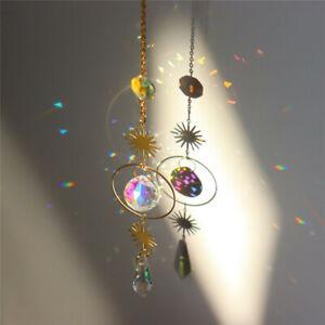 Metal Outdoor Hanging Crystal Wind Chimes Ornament Garden Indoor Home Decor✅
