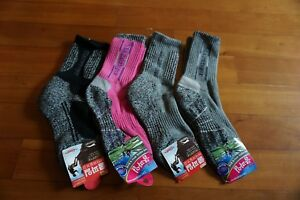 4 Pairs Slazenger Womens Long Socks for Climbing/Hiking/Outdoor Sport Coolmax