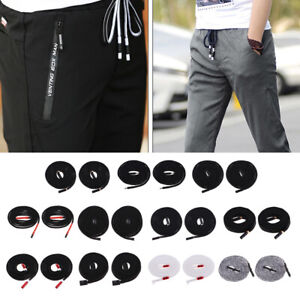 2 Pieces Durable Drawstring Cord Replacement Pants Lacing Accessories Black