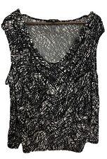 Ellen Tracy Sleeveless Shirt Black And White Pattern Womens plus 3X