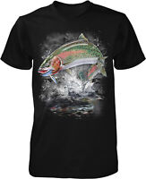 Rainbow Trout, River Trout, Fly Fishing Men's T-shirt