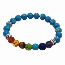 Chakra Bracelet BLUE with 7 Gemstones by ZILA COMPANY Healing Yoga Reiki Crystal