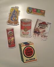 6 of Stickers for food spoof labels vinyl decal graffiti laptop stickers