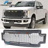 Fits 17-19 Ford F250 F350 Super Duty LED Honeycomb Mesh Front Bumper Grille ABS