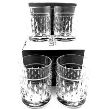 Ralph Lauren Aston Crystal Double Old Fashioned Set of 4 Glasses Germany