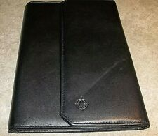 Franklin Covey Black Full Grain Leather Padfolio Organizer Classic Pg 55x85