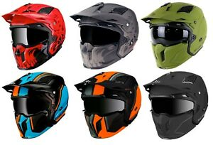 MT STREETFIGHTER FULL FACE OFF ROAD MX SKULL MOTORCYCLE MOTORBIKE CRASH HELMET
