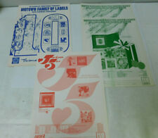 Motown Family of labels 1970 Catalogue and 3 order forms Christmas