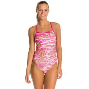 DOLFIN BELLAS Female Cross Back Swimsuit - Prowler Pink NWT Size 24 Speedo Style