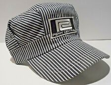 f59e6765108 Penn Central Railroad Patch on Train Engineer Hat Adult Fits All RR