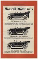 1913 PAPER AD 2 PG Maxwell Motor Car Auto Automobile 50-6 35-4 25-4