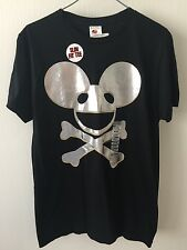 Hot Topic New DEAD MAUS T-Shirt Silver Against Black Slim Fit - M
