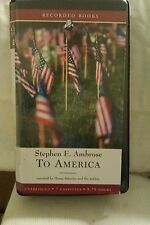 To America by Stephen E Ambrose: Unabridged Cassette Audiobook (HH5)