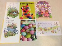 American Greetings Easter Cards Assorted Lot of 6 New Cards -Crafts Scrapbook