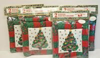 4 Pkg Vintage Woolworths Holiday Christmas Tree Quilted Scented Puff Pot Holders