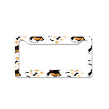 Collie Smooth Dog Breed Auto Car License Plate Frame Tag Holder 4 Hole