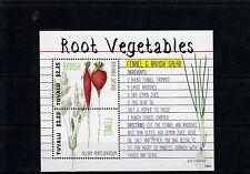 Tuvalu 2014 MNH Root Vegetables 2v S/S I Radish Fennel Salad Plants
