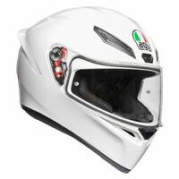 AGV K1 Gloss White Full Face Sports Motorcycle Motorbike Helmet