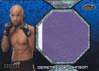 2013 Finest UFC Jumbo Fight Mat Relics Refractor Blue Demetrious Johnson #/188