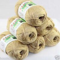 Sale New 6 Skeins x 50gr Soft Bamboo Cotton Hand Knitting Crochet Baby Yarn 926