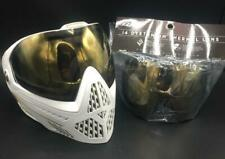 Dye i5 Paintball Mask Goggle System White Gold Plus i4 Thermal Lens - OPEN BOX