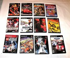 Twelve PLAYSTATION 2 Video Games With Manuals  NOT TESTED